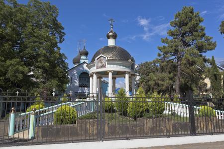 Rotunda blessing of water and the Holy Trinity church in Adler, Sochi in settlement Adler, Sochi, Krasnodar region, Russia