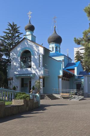 krasnodar region: Holy Trinity Church in settlement resort of Adler, Sochi, Krasnodar region, Russia Stock Photo