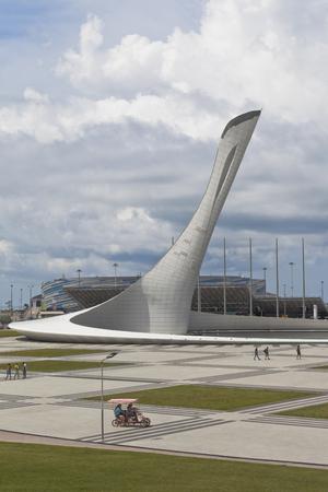 krasnodar region: Olympic torch in Sochi Olympic Park, Adler, Krasnodar region, Russia Editorial