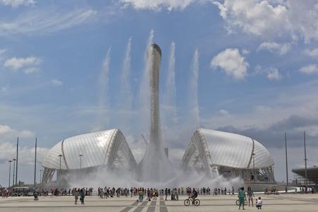 krasnodar region: Singing fountains and the stadium Fischt in Sochi Olympic Park, Adler, Krasnodar region, Russia