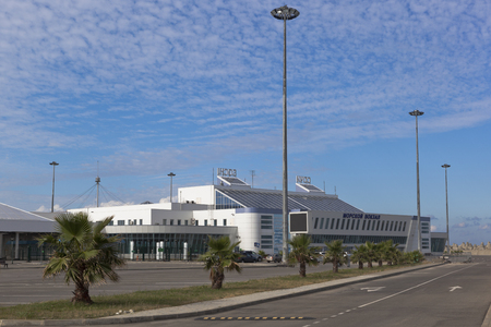 unevenness: Passenger terminal of a new marine station on the big scythe in Sochi, Krasnodar region, Russia