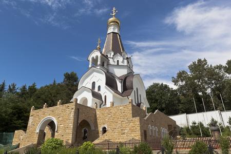 the righteous: Church of the Holy Righteous Warrior Feodor Ushakov in the resort village Kudepsta, Sochi, Krasnodar region, Russia