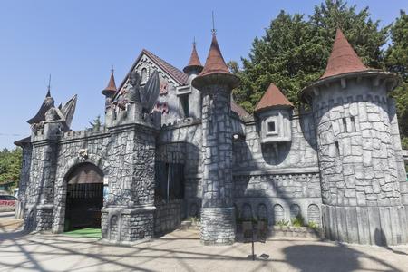 Castle of Fear in the park attractions resort town of Adler, Sochi, Krasnodar region, Russia