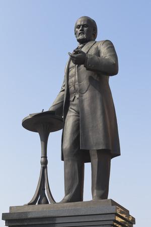 Savva Mamontov Monument in the city of Yaroslavl, Russia