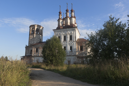 the righteous: Destroyed Church Christ Resurrection in village Varnitsy, Totemsky district, Vologda region, Russia