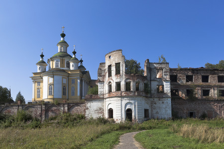 Ruins of Spaso-Sumorin Monastery and Cathedral Ascension of the Lord in the town of Totma, Vologda Region, Russia