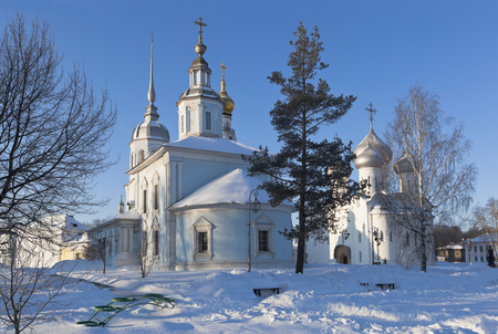 Church of St. Alexander Nevsky and Saint Sophia Cathedral in the city of Vologda, Russia
