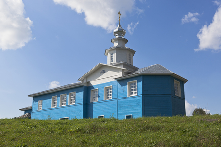 portent: Church of Mother of God of the Sign in Slobodka Birch, Nyuksensky District, Vologda region, Russia
