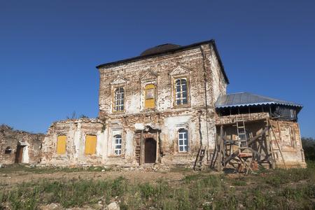 spasskaya: Restoration of Church of the Saviour Holy Face in the village Morozovitse, Velikiy Ustyug District, Vologda Region, Russia