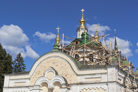 spassky: Restoration work of the church of St. John of Ustyug on the Cathedral courtyard in Veliky Ustyug, Vologda region, Russia