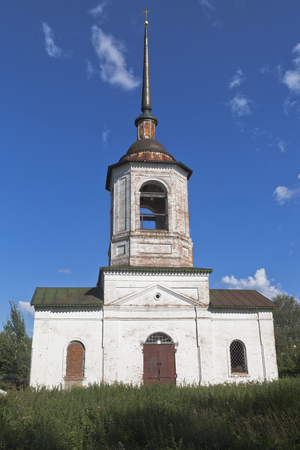 Temple of the Miracle of Michael the Archangel on the Gorodische in Veliky Ustyug, Vologda region, Russia Stock Photo