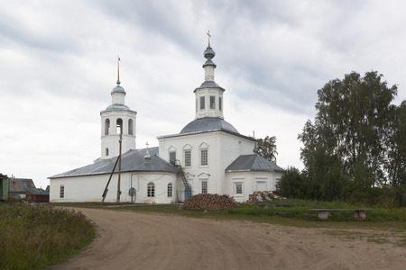 street creed: Church of the Trinity of the Life-Giving in the village of Vondokurye, Kotlas district, Arkhangelsk region, Russia