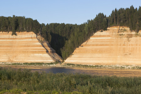 moulding: Opoki tract is a natural monument on the Sukhona River in the Vologda Region, Russia