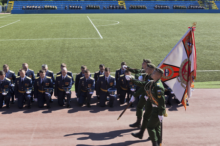 Farewell to the banner of the graduates of the Military Space Academy named after Alexander Fedorovich Mozhaisky, St. Petersburg, Russia Editorial
