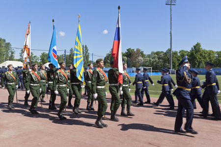 echoes: Echoes group in the ceremonial March dedicated to the production of 305 Military space Academy imeni AF Mozhaisky, St. Petersburg, Russia Editorial