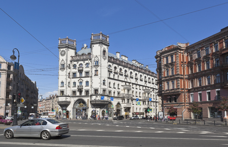 Area of ??Leo Tolstoy and the building of the Andrei Mironov Theater in St. Petersburg Petersburg, Russia