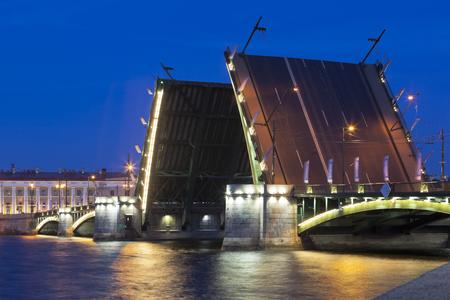 Divorced Exchange Bridge in St. Petersburg, Russia