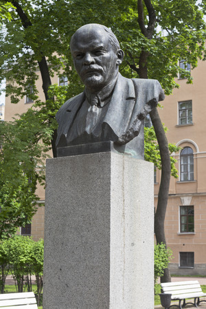 Bust of VI Lenin near the building of the Imperial Alexander Lyceum in St. Petersburg. Petersburg, Russia