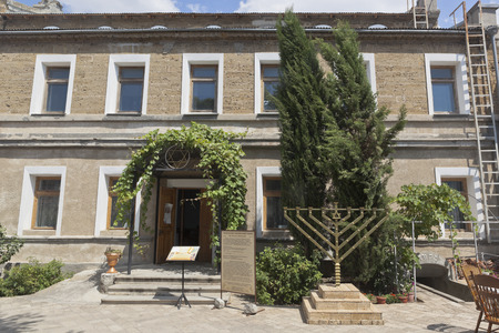 jewish community: Building of the synagogue Yeghia Kapai in the city of Evpatoria, Republic of Crimea, Russia