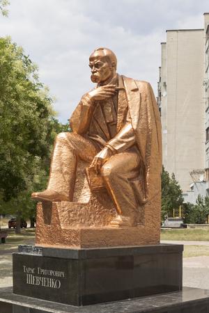 Monument to Taras Grigorievich Shevchenko in the city of Evpatoria, Republic of Crimea, Russia Editorial