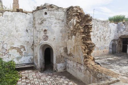 Interior of a collapsing Turkish bath in the city of Evpatoria, Crimea, Russia
