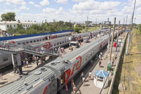 Rossosh, Voronezh region, Russia - July 8, 2018: Long-distance