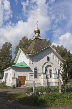 Chapel of St Gregory Pelshemskogo Kadnikov in the Vologda region, Russia