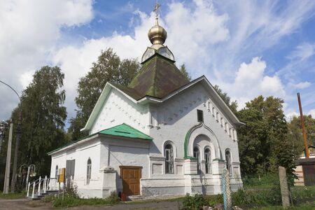 Church of St. Gregory St. Pelshemskogo Kadnikov in the Vologda region, Russia Stock Photo
