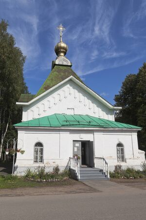 Church of St. Gregory Pelshemskogo Kadnikov in the Vologda region, Russia Stock Photo