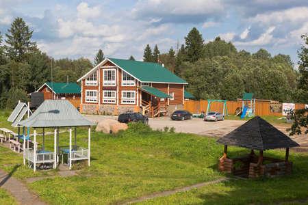Sokolsky district, Vologda region, Russia - August 20, 2019: Cafe