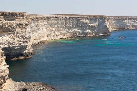 Yogov Bay of Tarkhankut Peninsula, Crimea, Russia