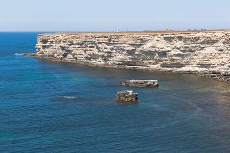 Black Sea coast of Tarkhankut peninsula, Crimea, Russia