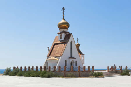 Temple-chapel of St. Nicholas at Cape Tarkhankut, Crimea, Russia