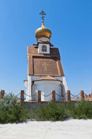 Temple-chapel of St. Nicholas the Wonderworker at Cape Tarkhankut, Crimea, Russia
