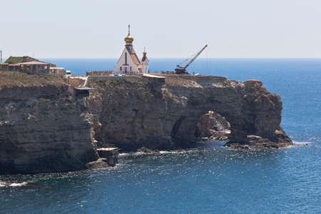 Cape Big Atlesh - a visiting card of the Tarkhankut Peninsula, Crimea, Russia