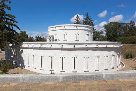 Sevastopol, Crimea, Russia - July 27, 2020: Defensive tower at the memorial complex Malakhov Kurgan in the hero city of Sevastopol, Crimea Editorial