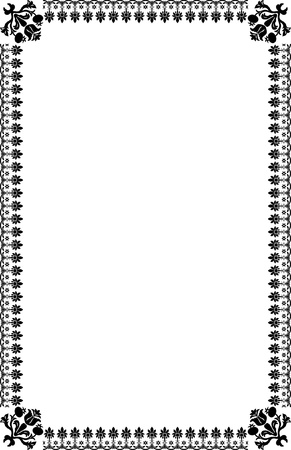 A4 Size Page Borders Stock Vector - 19541282