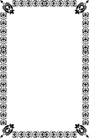 A4 Size Page Borders Stock Vector - 19541281