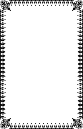 A4 Size Ornamental Borders Stock Vector - 19713304