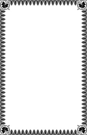 A4 Size Ornamental Borders Stock Vector - 19713305