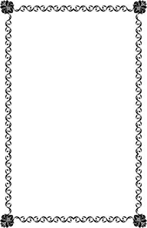 a4 borders: Formato A4 bordi ornamentali Vettoriali