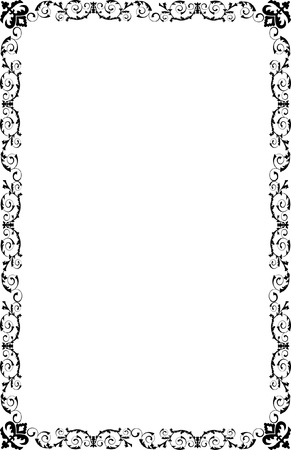 A4 Size Ornamental Borders Stock Vector - 19713311