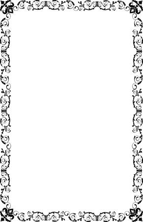 A4 Size Ornamental Borders Stock Vector - 19713311