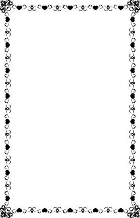 A4 Size Ornamental Borders Stock Vector - 19713306