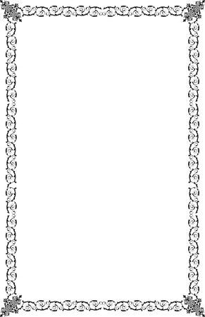 a4 borders: A4 Tama?o fronteras ornamentales