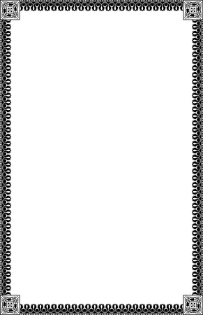 A4 Size Ornamental Borders Stock Vector - 19713308