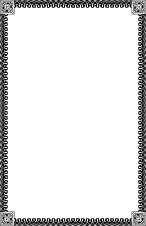 A4 Size Ornamental Borders Stock Vector - 19713308