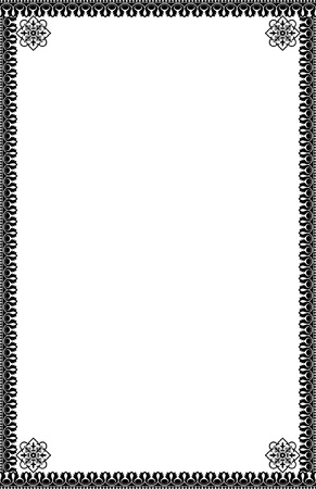A4 Size Ornamental Borders Stock Vector - 19713307