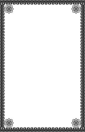 a4 borders: A4 Tama�o fronteras ornamentales