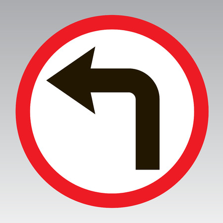 notify: Do turn left traffic sign to notify the street